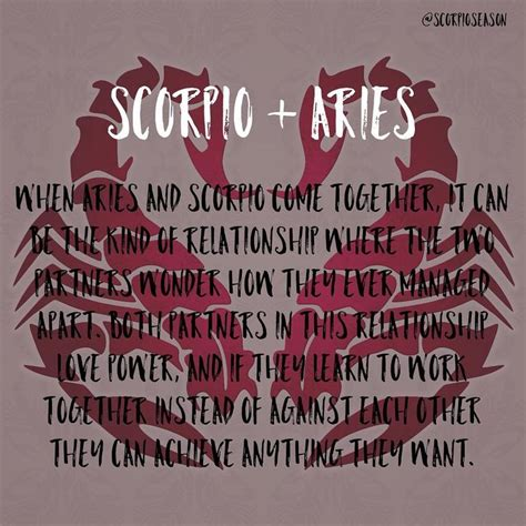 best 25 aries and scorpio ideas on pinterest leo