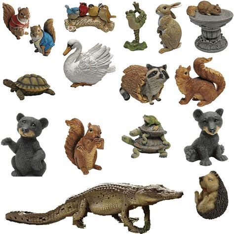 animal ornaments toscano wild animal garden patio ornaments squirrel swan