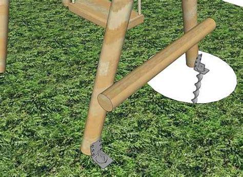 Installer Une Balancoire En Bois by Ancrages Au Sol Pour Les 233 Quipements De Jeux Ext 233 Rieurs