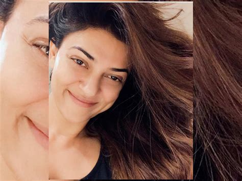 sushmita sen company here s why sushmita sen is glowing in this no makeup click