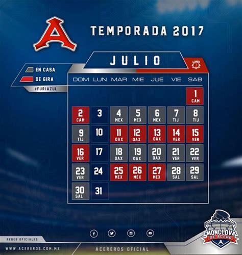 Calendario De Juegos Calendario De Juegos Acereros De Monclova