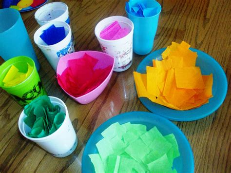 Tissue Paper Easter Crafts - tissue paper easter egg craft mommysavers