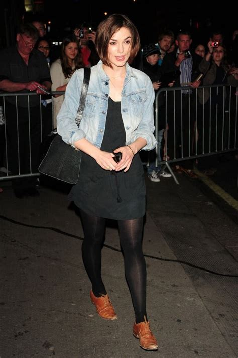 Keira Knightleys Should Be Washed With Soap by Keira Knightley In A Denim Jacket In
