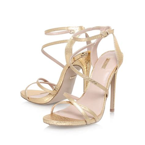 high heel sandals gold carvela kurt geiger high heel strappy sandals in