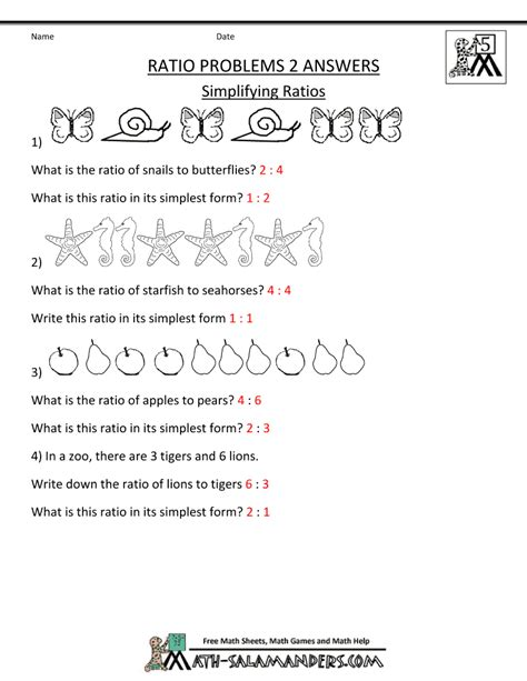 maths ratios worksheets bostonusamap