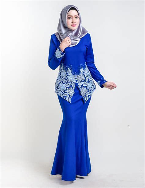 baju kurung moden sereni blue lovelysuricom