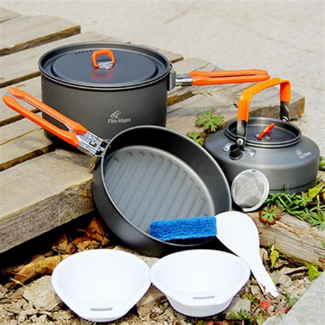 3in1 Sweet Yoyo maple feast 2 pot sets for 2 3 persons 3in1 high grade aluminum outdoor cooking cookware