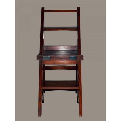 stuhl leiter leiterstuhl mahagoni massiv lackiert klappstuhl trittstuhl