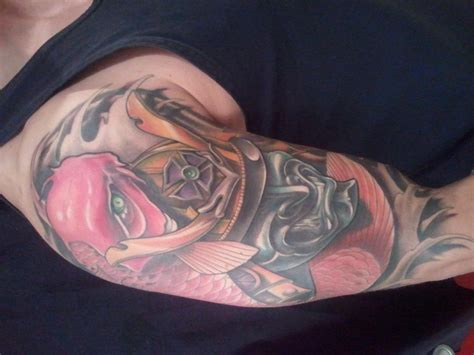 phantom 8 tattoo phantom 8 tattoos chris j tot samurai mask koi