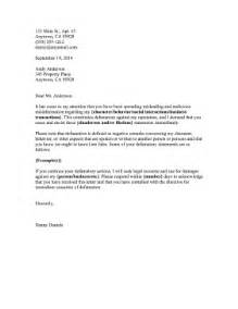 defamation of character letter template cease and desist defamation template