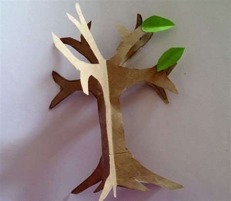 Tree With Paper - how to make an easy paper craft tree imagine forest