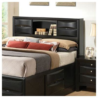 King Size Headboard With Storage Headboard With Storage Xl Espresso Brown Platform Bed With Headboard U0026 Storage