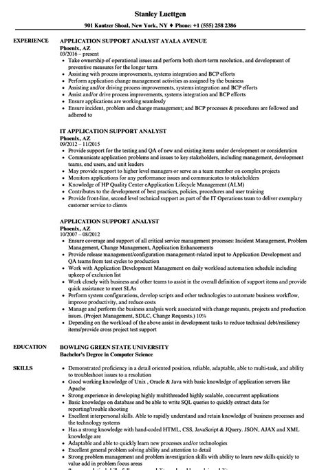 application support resume sle great resume it application support ideas resume ideas