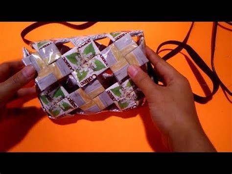 mini tas anyaman cara membuat tas mini dari bungkus kopi