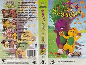Barney barney s 1 2 3 4 seasons vhs video tape ebay
