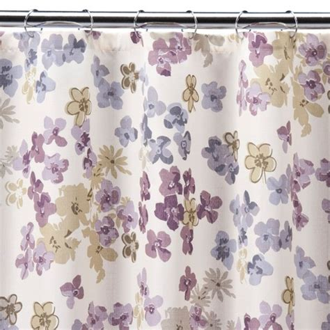 shower curtain floral fresh picked floral shower curtain target