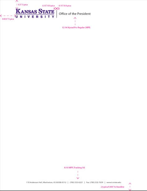 Letterhead Of College Stationery Application Graphic Identity Dcm Kansas