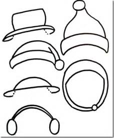 snowman hat template snowmen printables just paint it