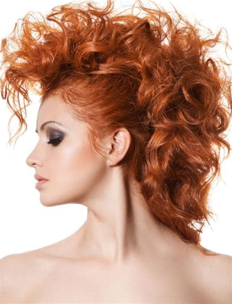 big faux hawk 15 best updos for curly hair