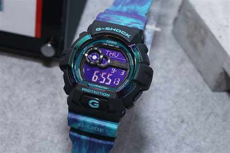Casio G Shock Gls Black Huruf Blue g shock gls 8900ar g lide light color series g