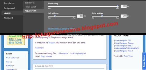 menu layout adalah cara mengganti template dengan template rancangan blogger