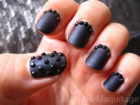 Polish some black rhinestones to create this black caviar inspired