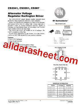 cs3341 datasheet pdf on semiconductor