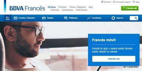 Homebanking Banco Francs Frances Net | en el bbva banco franc 233 s ahora se pueden pagar los usd con