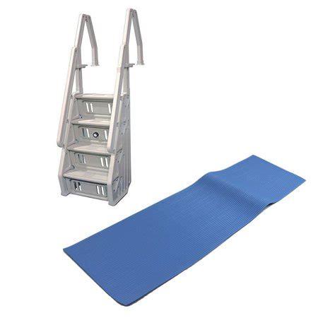 Above Ground Pool Ladder Mat - vinyl works in step above ground swimming pool ladder