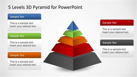 d d 3 5 templates 5 levels 3d pyramid template for powerpoint slidemodel