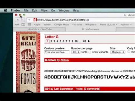 dafont for mac mac how to download a font from dafont com youtube
