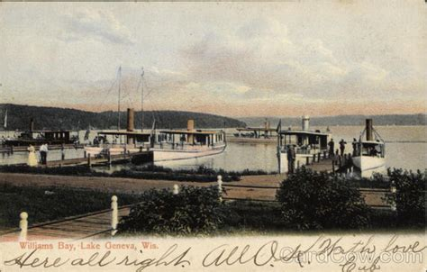 Williams Bay Post Office by Williams Bay Lake Geneva Wi Postcard