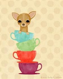 Dachshund Home Decor Chihuahua Art Print Cute Dog Art Teacup Chihuahua 18
