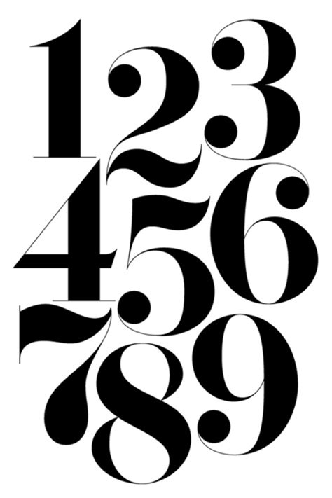 number 3 typography numbers font fonts numbers typography and