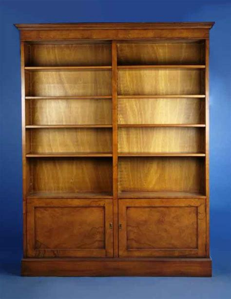 walnut reproduction antique bookcase for sale antiques