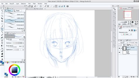 tutorial menggambar di manga studio 5 mewarnai wajah manga dengan manga studio mayagami