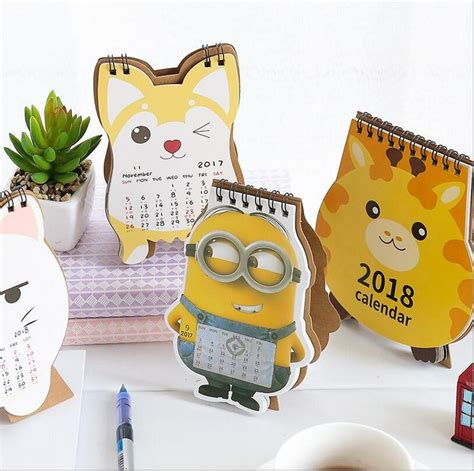 minion desk calendar 2018 best 20 giraffe ideas on simple