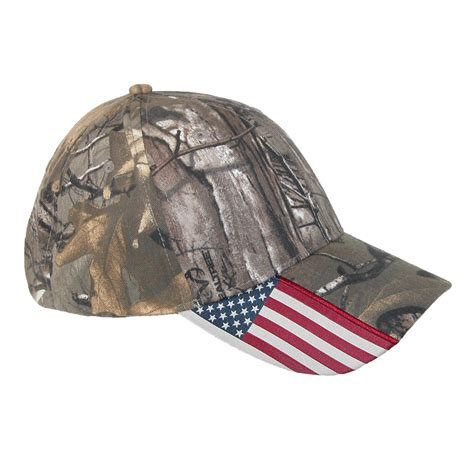 camo hat xtra camo and american flag baseball hat by realtree