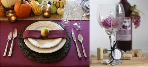 Glasses Table Setting Purple Fall Table Setting With Wine Glass Judi Painted It