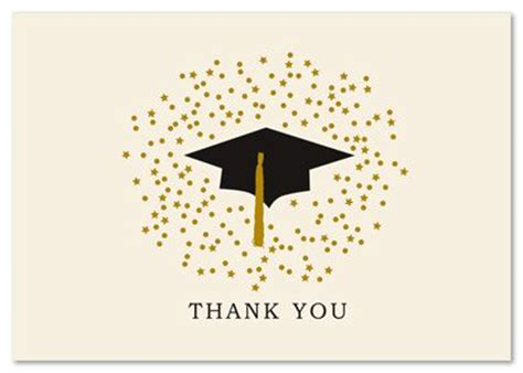 Graduation Thank You Card Templates Microsoft by Graduation Hat Thank You Cards Graduation