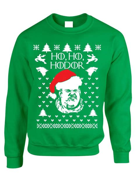 best play to get ugly christmas sweaters in az crewneck sweatshirt ho ho hodor sweater ebay