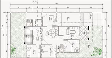 contoh gambar denah rumah minimalis menggunakan autocad griya bagus