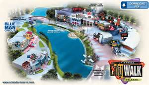 Citywalk Orlando Map by Universal Citywalk Orlando Map Universal Orlando