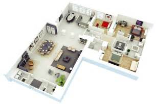 3 Bedroom 2 Bath Floor Plans 25 more 3 bedroom 3d floor plans architecture amp design