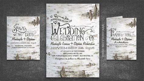 birch tree wedding invitations read more birch tree bark rustic country wedding invites