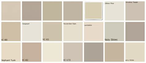 benjamin color chart car interior design