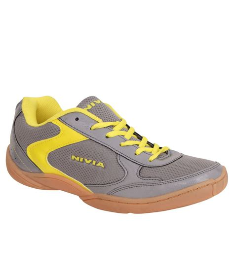 nivia sport shoes nivia flash gray badminton sports shoes available at