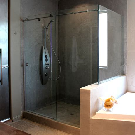 Barn Door Shower Door Vision Mirror Shower Door
