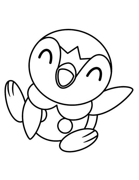 pokemon coloring pages of piplup piplup coloring pages www imgkid com the image kid has it