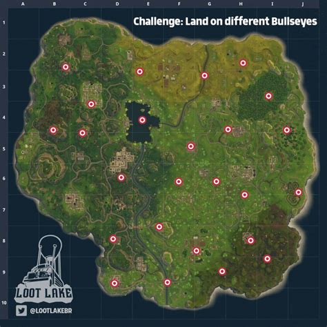 fortnite locations fortnite bullseye locations guide push square